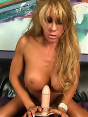 Farrah Foxxx strips off her lingerie exposing her rock hard body, then has some Sybian fun.