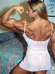MaryLynne MacKenzie shows alot of definition, particularly in her legendary upper body