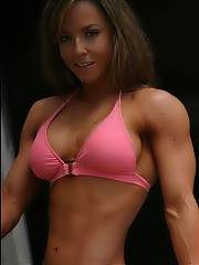 Beautiful girls with muscles