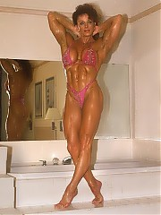 Diana Dennis in fabulous shape is fairly evenly developed