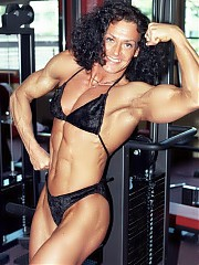 Sissel Lyngvaer a very heavily muscled and vascular upper body and great legs