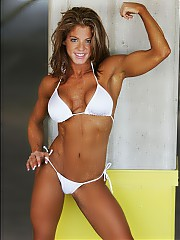 Beautiful part of the female bodybuilding.