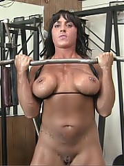 Bella Monet - when she works out, she gets turned on